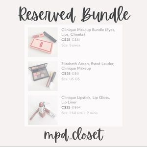 Bundle of 3 Makeup Sets